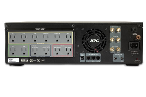 APC J10BLK AV Black  Power Conditioner with Battery Backup 120V
