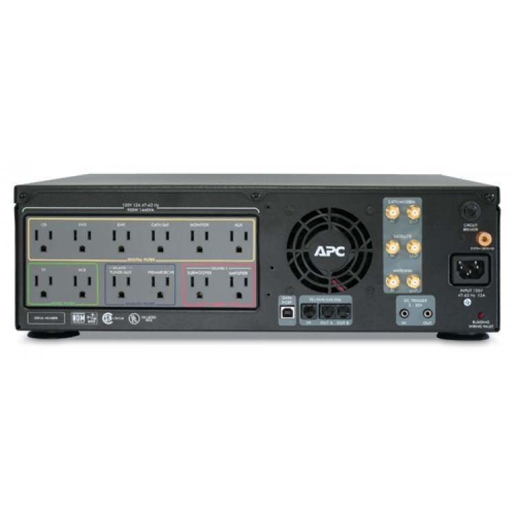 APC Av Black 1kva S Type Power Conditioner with Battery Backup 120v