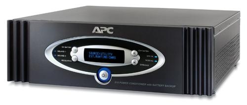 APC S15BLK AV Black Power Conditioner with Battery Backup