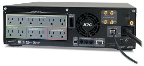 APC S20BLK AV Black Network Manageable Power Conditioner