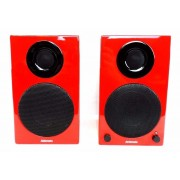 AktiMate Micro Red 2-way Active Speaker System with iPod Dock