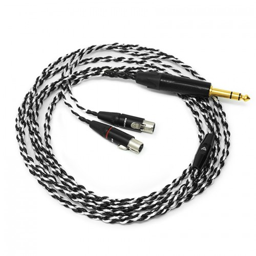 "Audeze LCD4 Premium Single-Ended Braided Cable with 1/4"" Stereo Plug"