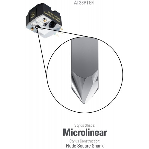 Audio-Technica AT33PTG/2 Dual Moving Coil MC Cartridge