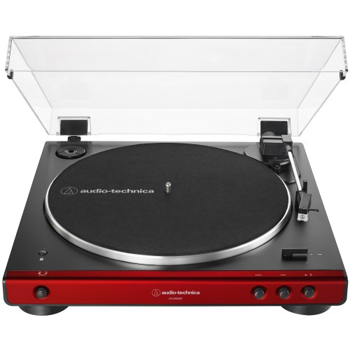 Audio-Technica AT-LP60XBT-RD Fully Automatic Wireless Belt-Drive Turntable (Red)