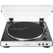 Audio-Technica AT-LP60XBT-WH Fully Automatic Wireless Belt-Drive Turntable (White)
