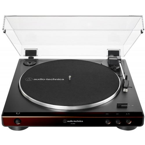 Audio-Technica AT-LP60X-BW Fully Automatic Belt-Drive Turntable (Brown/Black)