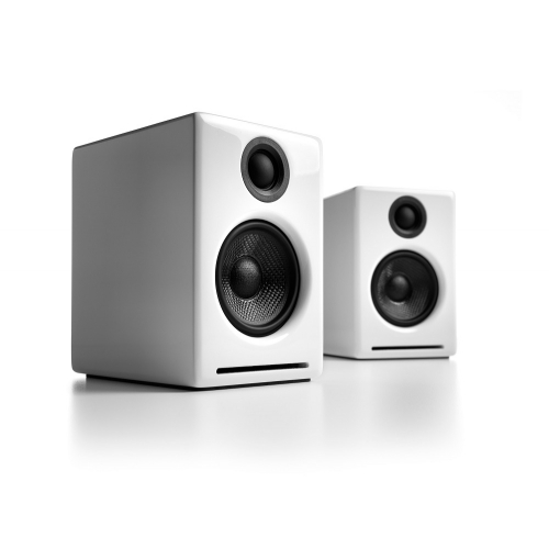 Audioengine A2+ Wireless Bluetooth Desktop Speakers (White)