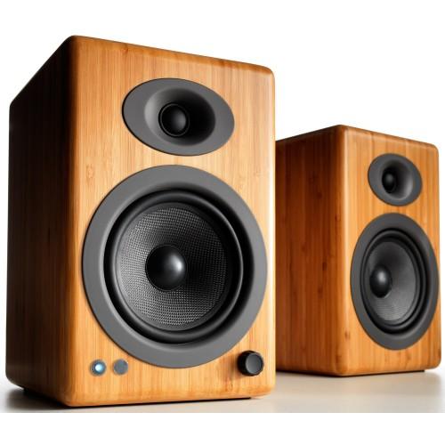 Audioengine A5+BT Wireless Bookshelf Speakers (Bamboo)