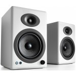 Audioengine A5+BT Wireless Bookshelf Speakers (High Gloss White)