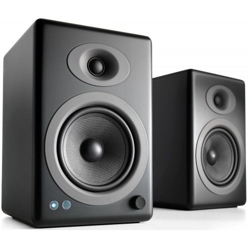 Audioengine A5+BT Wireless Bookshelf Speakers (Black Satin)