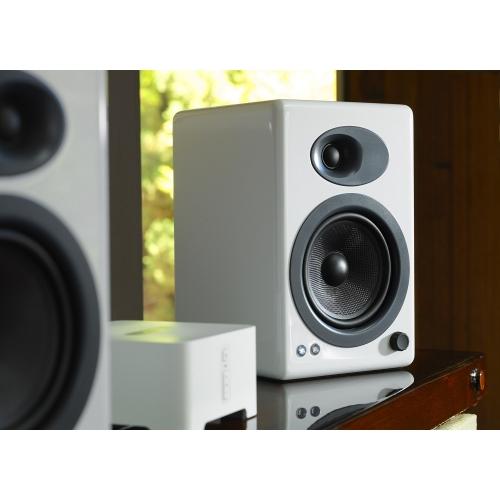 Audioengine A5+ Classic Powered Bookshelf Speakers (Hi-Gloss White)