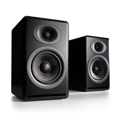 Audioengine P4 Premium Passive Bookshelf Speakers (Satin Black)