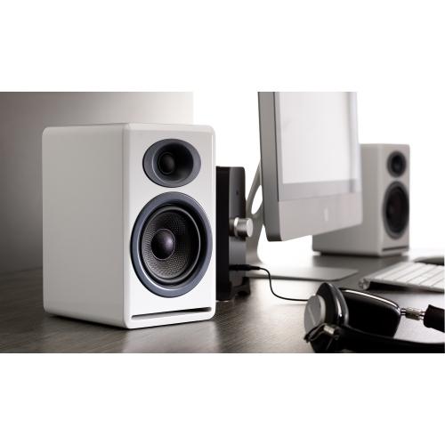 Audioengine P4 Premium Passive Bookshelf Speakers (Hi-Gloss White)