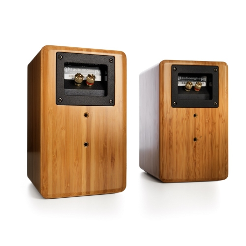 Audioengine P4 Premium Passive Bookshelf Speakers (Bamboo)