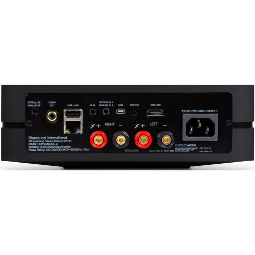 Bluesound POWERNODE 2i Wireless Multi-Room Music Streaming Amp with HDMI (Black)