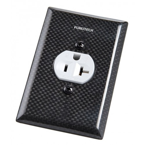 Furutech 103 S Outlet Cover with Carbon Fiber Finish