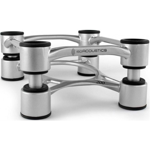 IsoAcoustics Aperta 200 Silver Aluminum Speaker Isolation Stands (2-Pack)