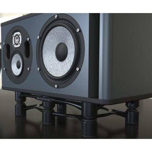 IsoAcoustics Aperta 300 Black Aluminum Speaker Isolation Stand