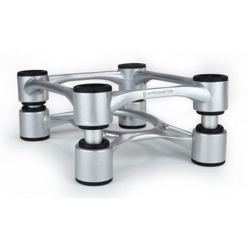 IsoAcoustics Aperta Silver Aluminum Speaker Isolation Stands (2-Pack)