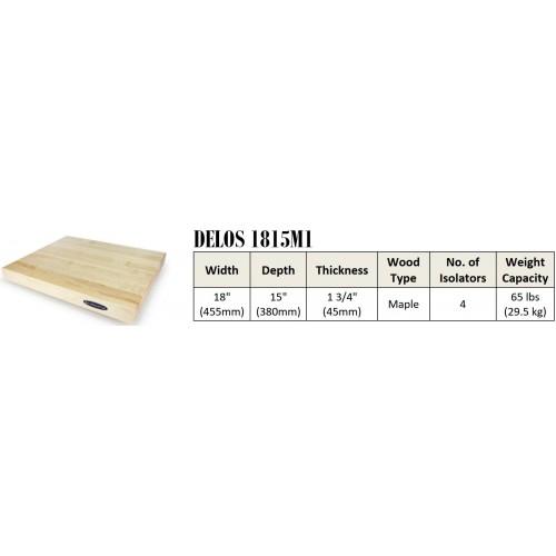 "IsoAcoustics DELOS 1815M1 Turntable Isolation Maple Wood Platform (18""x15""x1.75"")"