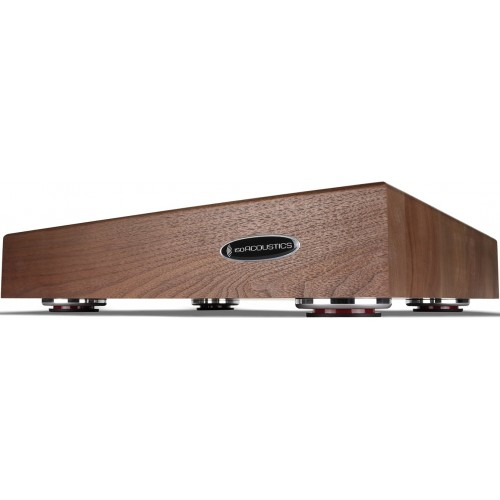 "IsoAcoustics DELOS 1815W2 Turntable Isolation Walnut Wood Platform (18""x15""x3"")"