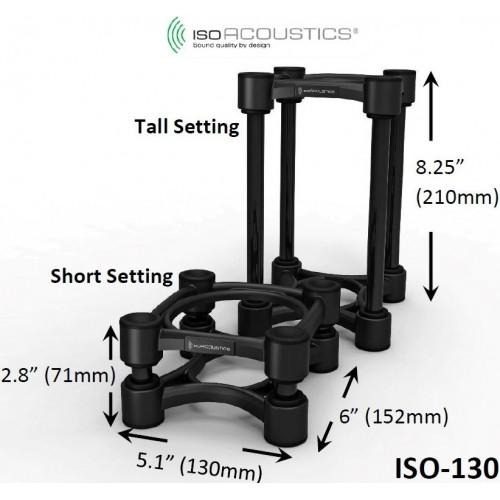 IsoAcoustics ISO-130 Speaker Isolation Stands (2-Pack)
