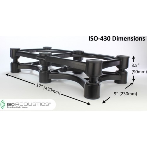 IsoAcoustics ISO-430 Speaker/Amplifier Isolation Stand