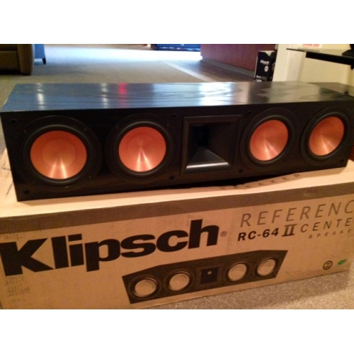 klipsch rc 64 ii center channel speaker preowned. Black Bedroom Furniture Sets. Home Design Ideas