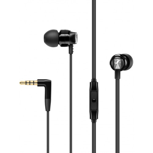 Sennheiser CX 300S In-Ear Headphones with One-Button Smart Remote (Black)