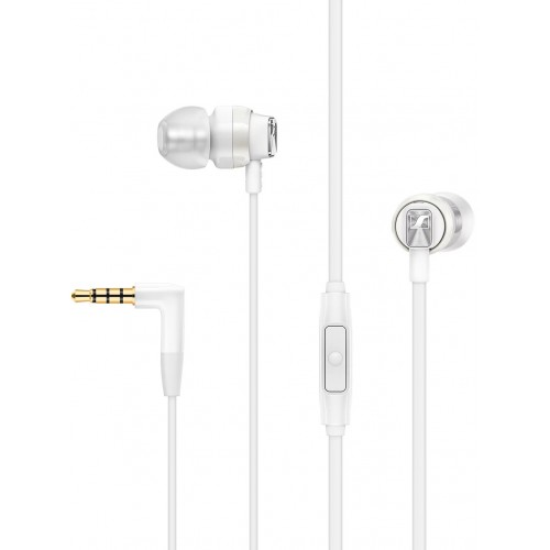 Sennheiser CX 300S In-Ear Headphones with One-Button Smart Remote (White)