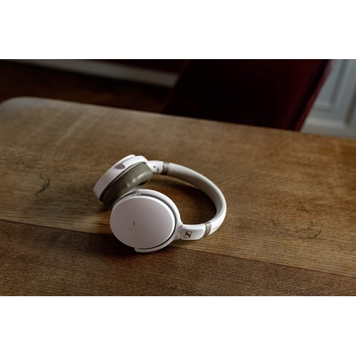 Sennheiser HD 450BT Bluetooth Wireless Noise Cancellation Headphones (White)