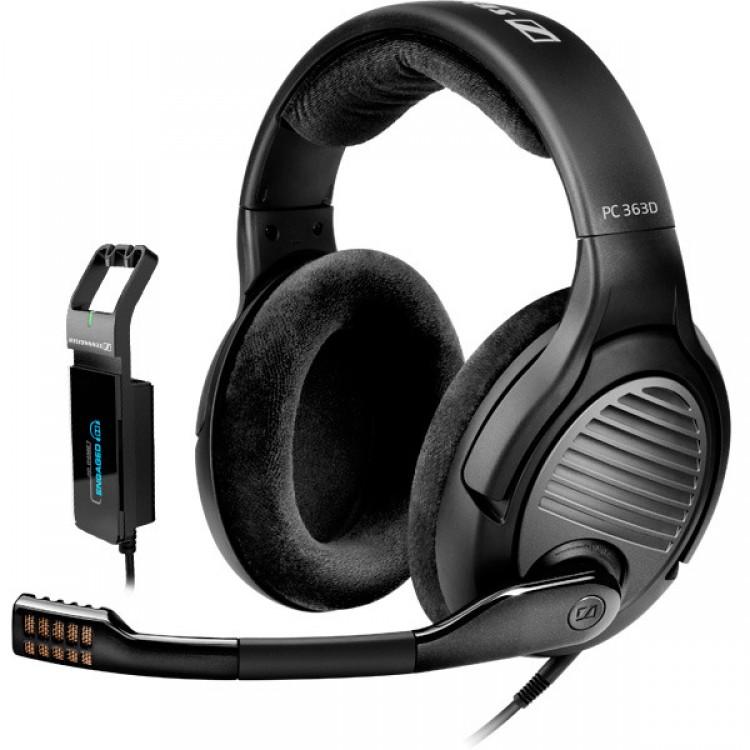 sennheiser pc 363d surround sound gaming headset. Black Bedroom Furniture Sets. Home Design Ideas