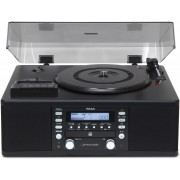 TEAC LP-R550USB-B Tabletop CD Recorder with Cassette and Turntable (Black)