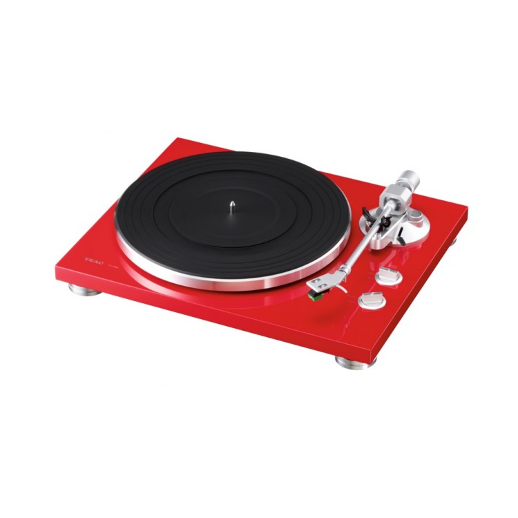 Teac Tn 300 Turntable Belt Drive Analog Record Player Red