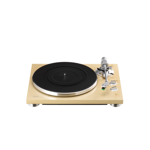 TEAC TN-300 Turntable - Belt-drive analog Record Player (Natural Wood)