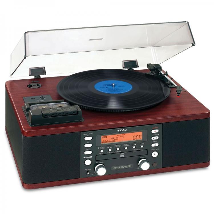 Dàn TEAC LP-R550USB đa năng CD/LP/Tape/Radio FM-AM