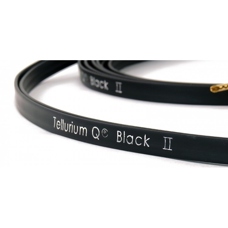tellurium q black ii speaker cables with bananas 2 5 meter length 1 pair. Black Bedroom Furniture Sets. Home Design Ideas
