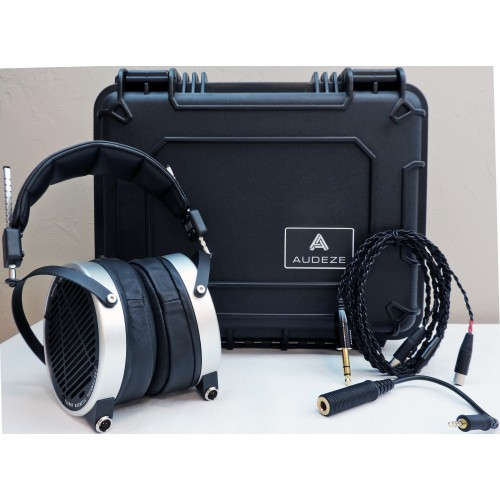 Audeze LCD-2 planar-magnetic Alloy-trim Headphones with Travel Case