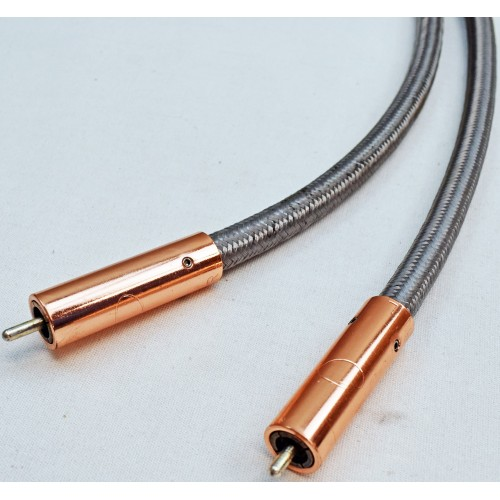 Organic Audio silver-plate high-purity copper RCA Interconnect Cables (1m)