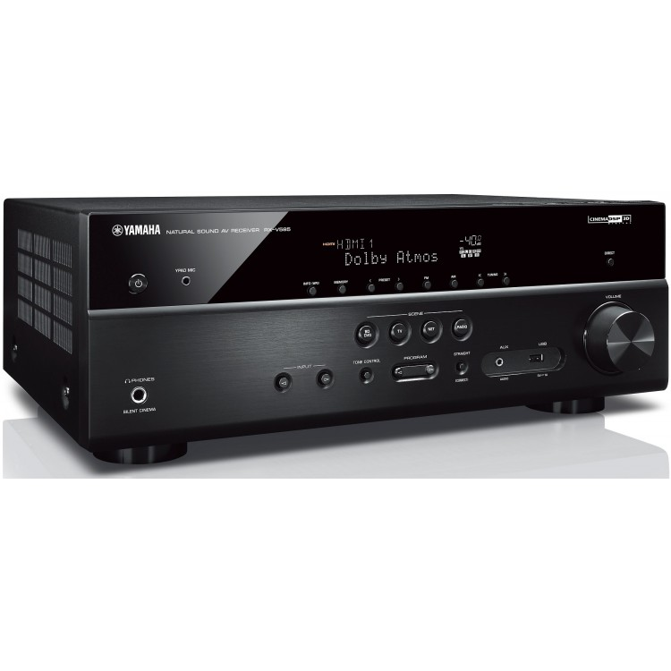 yamaha rx v585 7 2 ch receiver with musiccast 20 wireless speakers. Black Bedroom Furniture Sets. Home Design Ideas