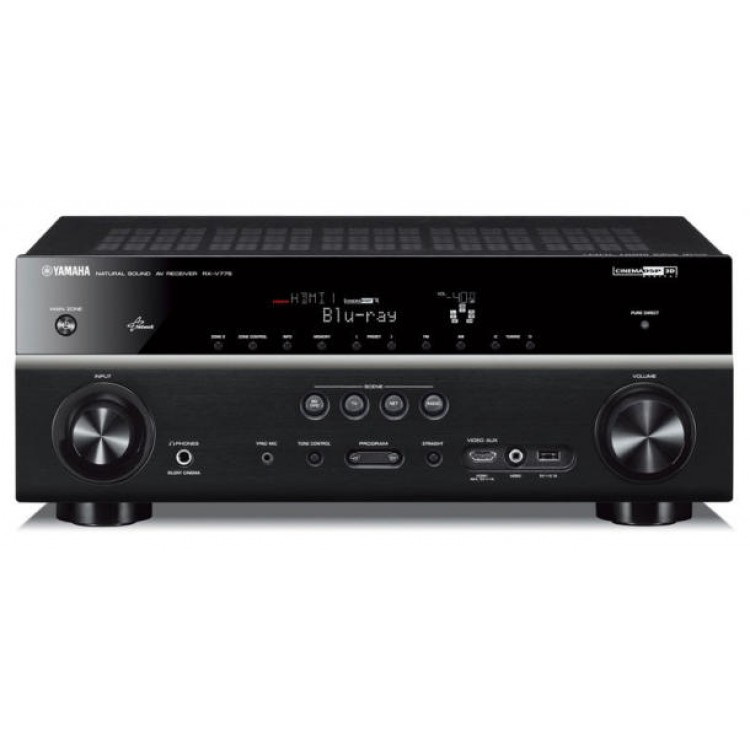 home theater receiver. yamaha rx-v475 network home theater receiver with airplay